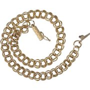14k Textured Double Curb Link Chain Bracelet