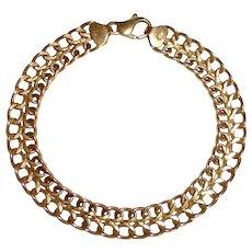 14k Yellow Gold Double Row Link Bracelet