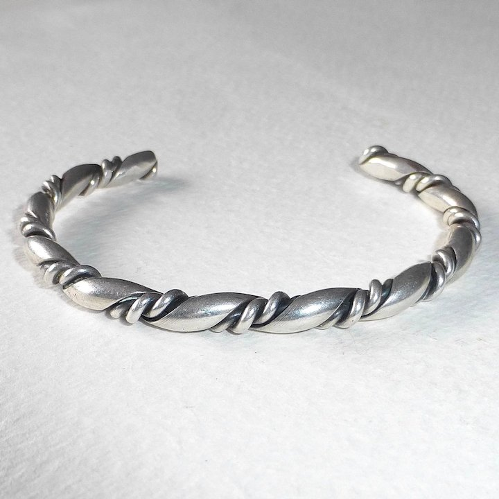 Native American Sterling Twisted Wire Cuff Bracelet : BeJewelled ...