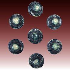 Celluloid Bubble Buttons Set of 7