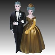Vintage 50th Golden Anniversary Cake Topper