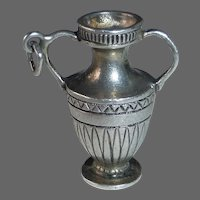Sterling Double Handle Urn Charm or Pendant
