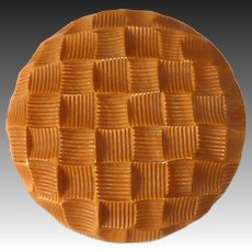 Butterscotch EOD Bakelite Large Carved Clip