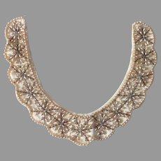 Beaded Satin Collar w Faux Pearls Japan c1950s