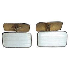 Aksel Holmsen Norne Double Sided Sterling Silver & Enamel Cufflinks