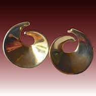 14k Sculptural Curl Post Earrings
