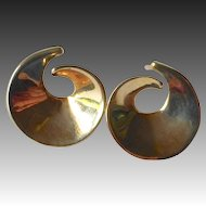 14k Sculptural Curl Post Earrings