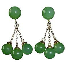 14k Jade Drop Earrings