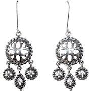 Sterling Silver Small Chandelier Earrings