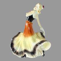 Art Deco Ceramic Dancer German Figurine