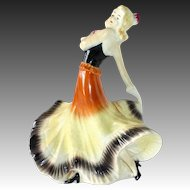 Art Deco Ceramic Dancer German Figurine