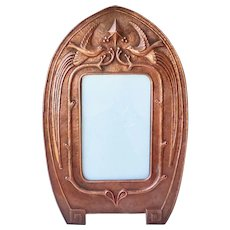 Arts & Crafts Repousse Copper Picture Frame