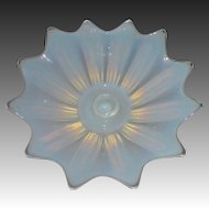 Opalescent Murano Art Glass Candlestick Centerpiece
