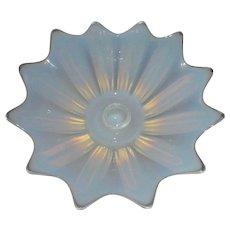 Opalescent Murano Art Glass Candlestick Centerpiece