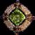 Vibrant D&E Juliana Rhinestone Pin in Autumn Colors