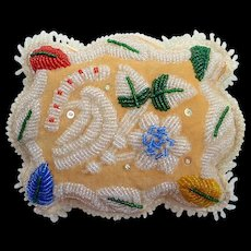 North East Coast Native American Iroquois Beaded Pin Cushion~Whimsy