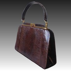 Genuine Tegu Lizard Leather Handbag Purse