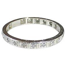 Art Deco Platinum Diamond Eternity Band Ring