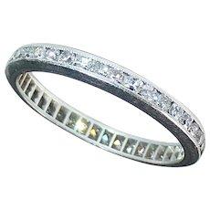 Platinum & Diamond Eternity Band Ring