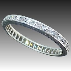 Platinum & Diamond Eternity Band Ring