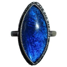 Rare Sterling Morpho Butterfly Wing Ring