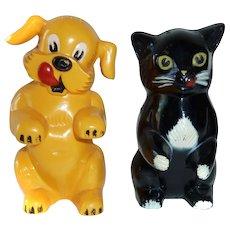 Ken-L-Ration Cat & Dog Vintage Advertising Salt & Pepper Shakers