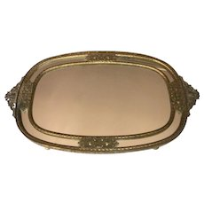 Elegant Ornate Mirrored Vanity Tray