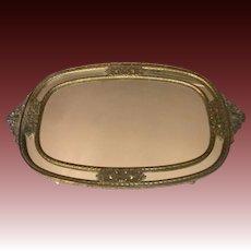 Elegant Ornate Mirrored Vanity Tray