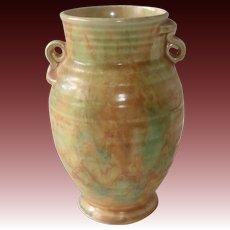 Art Deco Crown Devon Vase Blended Glaze