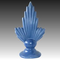 Art Deco Dutch Blue Semi Matte Vase