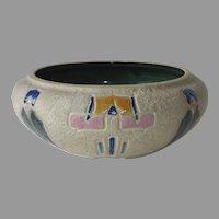 Roseville Pottery Arts & Crafts 'Mostique' Low Bulb Planter