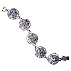 Sarah Coventry Flashed Glass Cabochon Bracelet