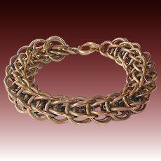 Art Deco Chunky Bronze Chain Bracelet