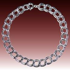 Sterling Double Link Starter Charm Bracelet