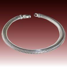 Forstner Sterling Snake Chain Bracelet c1940s