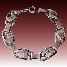 Sterling Equestrian Horse Head Link Bracelet