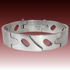 Erika Hult de Corral Modernist Mexican Sterling Designer Bracelet c1960s