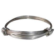 Multi Strand Wire Adjustable Sterling Bracelet