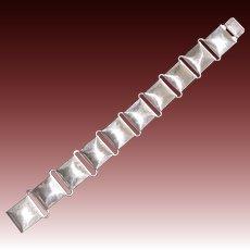 Napier Sterling Domed Square Link Bracelet