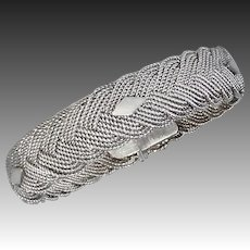Ethnic Sterling Twisted & Braided Wire Bracelet