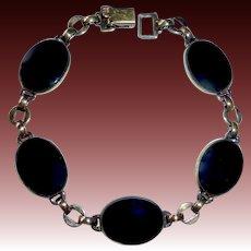 Symmetalic 14k GF Over Sterling Onyx Cabochon Bracelet