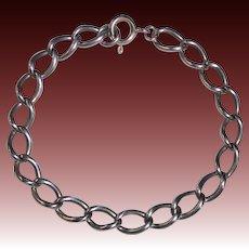Sterling Old Style Curb Link Bracelet c1930s