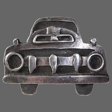 """Taos Truckers"" Handcrafted Sterling Truckers Belt Buckle"