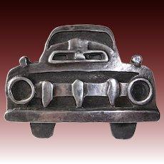 """Taos Truckers"" Handcrafted Sterling Truckers Belt Buckle"