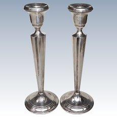 Mid Century Arrowsmith Sterling Silver Candlesticks