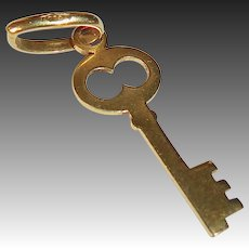 18k Skeleton Key Charm
