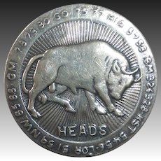 Bull & Bear Sterling Heads-Tails Betting Coin Toss