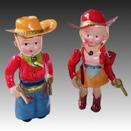 Rootin' Tootin' Cowboy and Cowgirl Colorful Dolls