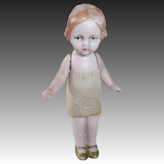 Pink Bisque German Miniature Doll Jointed Arms