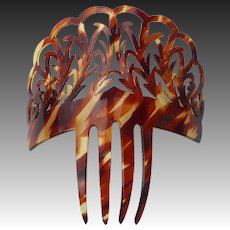 Victorian Faux Tortoise Shell Large Ornate Hair Comb